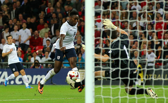 Danny Welbeck scored two goals against Moldova, but will be suspended vs. Ukraine on Tuesday.