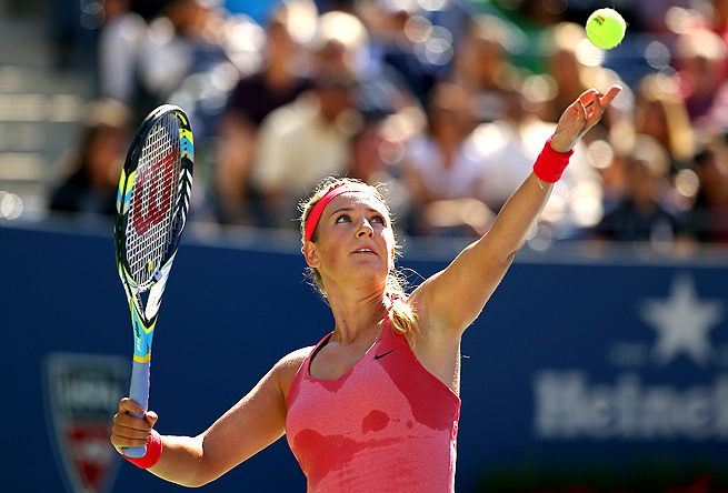 Victoria Azarenka won 69 points to Flavia Pennetta's 54 during their U.S. Open semifinal match.