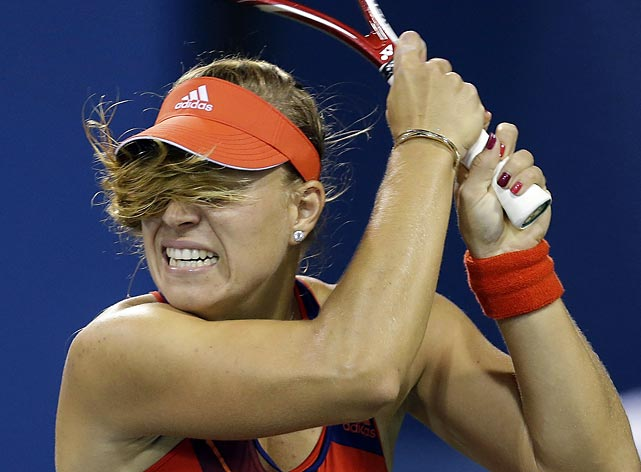 Angelique Kerber's match against Lucie Hradecka got hairy, but not for long. Kerber won, 6-1, 6-1.
