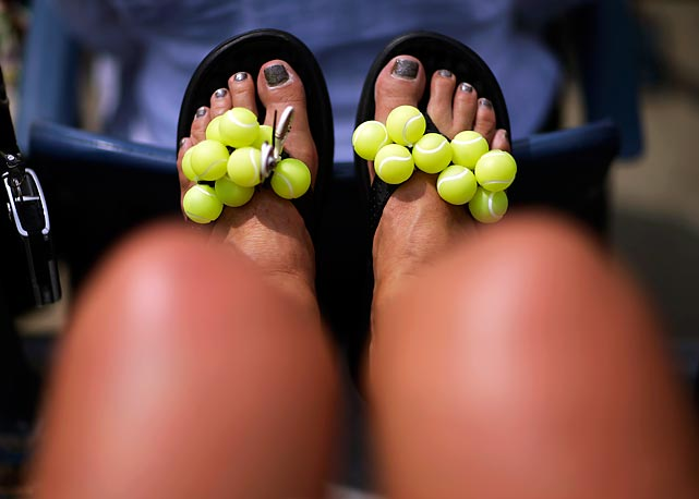 "On display at the U.S. Open: the living definition of the term ""balls of the feet."""