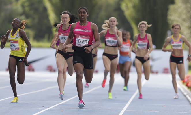 Caster Semenya dominated in the 800 meters in Rieti.