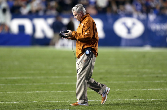 Coach Mack Brown watched his Longhorns allow a staggering 550 rushing yards in a loss to BYU.