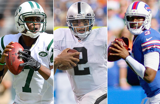 Geno Smith (left), Terrelle Pryor (center) and EJ Manuel finished 1-2 in Week 1, but impressed all the same.