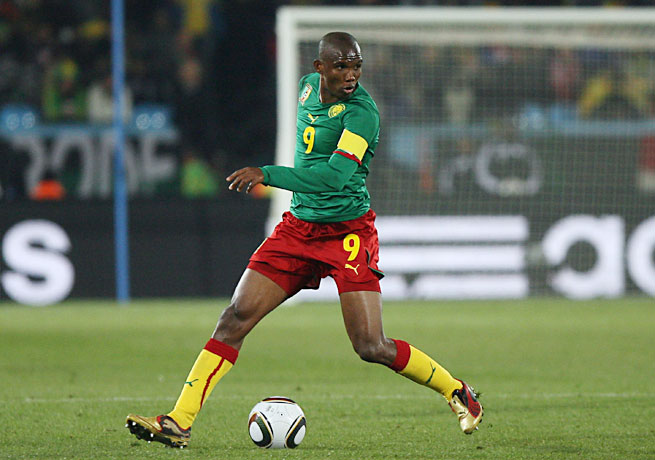 Samuel Eto'o has played for Cameroon since 1997 and is the country's all-time leading scorer.