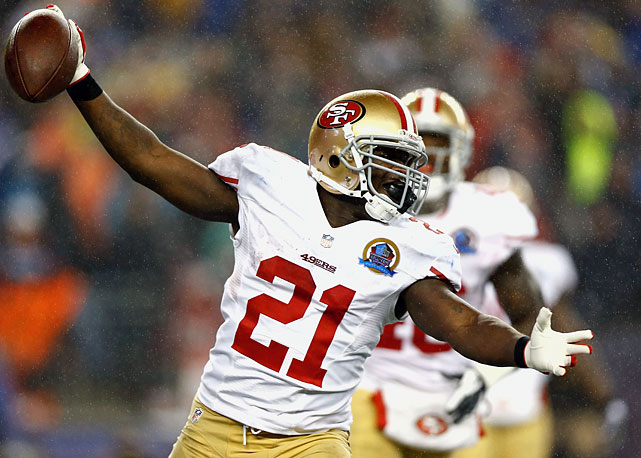 The bruising 49ers running back has proven he can score on the ground (52 rushing scores) and through the air (10 receiving touchdowns). He even converted a two-point attempt in 2008. But in 2012 Gore upped the scoring ante by scooping up a fumble and returning it nine yards for a score against the New England Patriots in a thrilling 41-34 win.