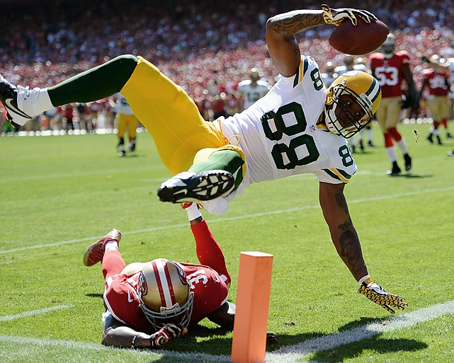 As Jermichael Finley can attest, it doesn't matter how pretty or ungraceful one looks getting the job done -- a touchdown is a touchdown.