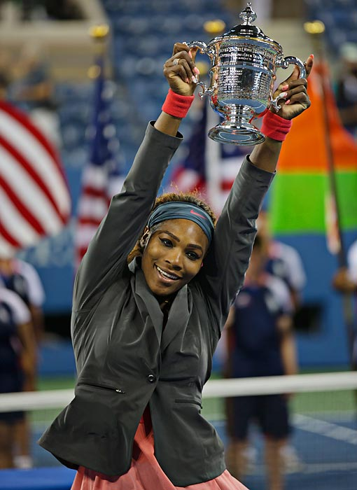 In a tournament in which she dominated, throwing down five bagel sets in seven matches, Serena got her revenge on No. 2 Victoria Azarenka, who had beaten her in all their hard court matches this season. With her 10th title of 2013, Serena became the first woman to ever break $10 million in prize money in a single season.