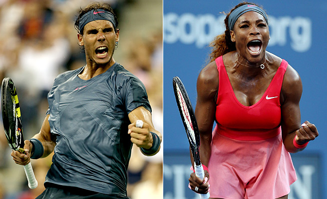 Rafael Nadal is 60-3 with two Grand Slam titles this year. Serena Williams is 67-4 with two majors.