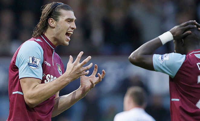 Andy Carroll hasn't played for West Ham this EPL season as he deals with multiple foot injuries.