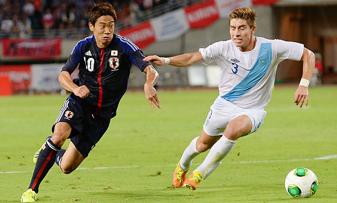 Shinji Kagawa scored for Japan in World Cup qualifying but has not played for Manchester United this season.