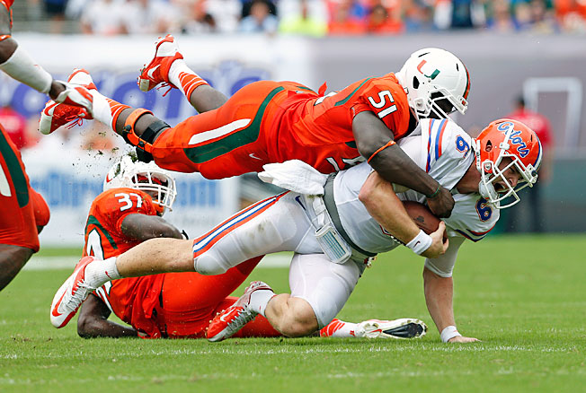 Miami was the second ACC program to take down a highly ranked SEC opponent in the 2013 campaign.