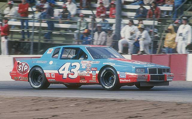 In October 1983 at Charlotte. Petty won with left-side tires on the right side of his car, right-side tires on the left, and an illegal engine that was well over the allowable limit. The King was fined and docked 104 points, but his victory stood, amidst great complaints from his rivals. Interestingly, the car driven by Darrell Waltrip, who finished second, was hauled away from the track before it could be inspected.