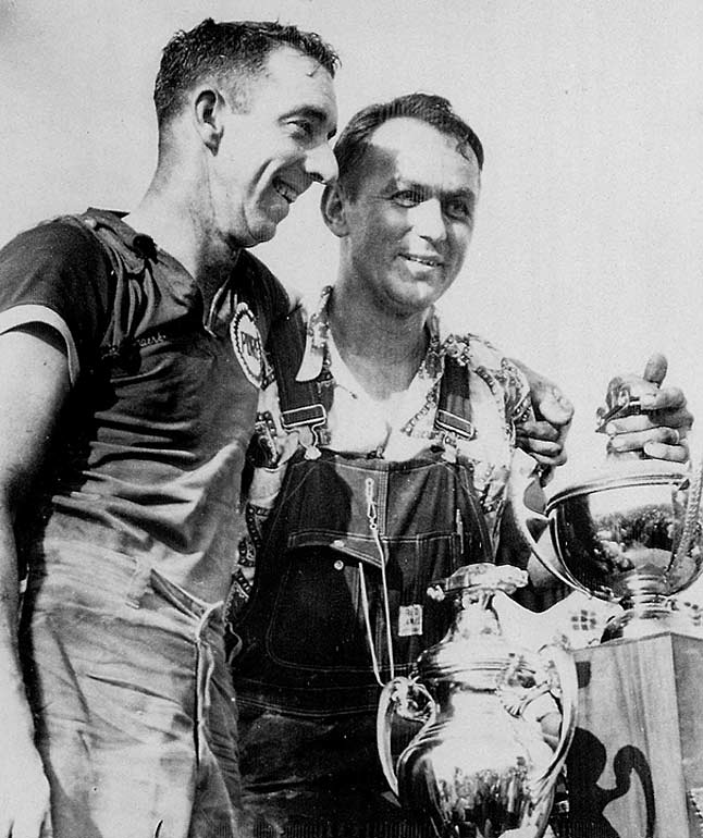 A self-taught engineer, Yunick (right) was one of the sport's true rascals. His unsponsored Chevy took the pole for the 1967 Daytona 500, but was found to be only 7/8ths the size of a regulation stock car, which meant it pushed a lot less air. The following year, he skirted fuel capacity regulations by creating a fuel line that was 11 feet long and able to hold an extra five gallons. He also stuck an inflated basketball in the tank. After officials checked off on the fuel capacity, he deflated the ball on the sly and added extra gas
