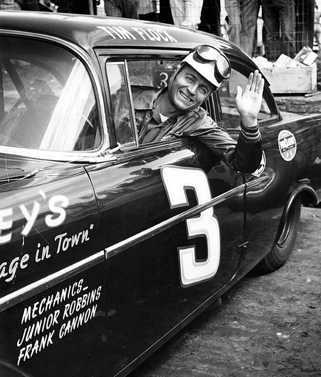 Flock, who was known for racing with his pet monkey inside the car, was disqualified from a race in 1952 because his roll bars were found to be made of something other than metal: much lighter painted wood.
