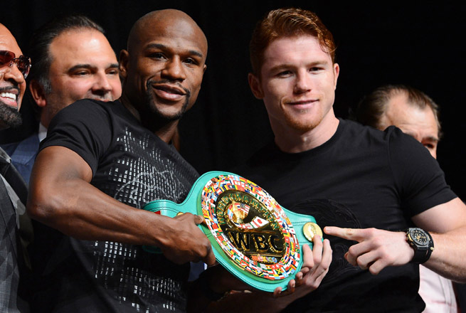 Will Floyd Mayweather (left) have the same success as a promoter after he hangs up his own gloves?