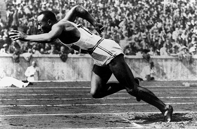 Sept. 12, 2013 marks the 100th anniversary of the birth of Jesse Owens, one of the early American Olympic heroes. Owens struck a monumental victory at the 1936 Berlin Olympics for both himself and his country when he took the gold medal in the 100m, 200m, 4x100m relay and long jump, besting Nazi Germany competitors on their home soil. In the course of a week, Owens, the son of a sharecropper and the grandson of slaves, dealt a blow on the world's stage to Adolph Hitler's Nazi propaganda and the myth of a master race. SI.com commemorates the historic achievements of Owens with a look at some rare photos of the Buckeye Bullet.
