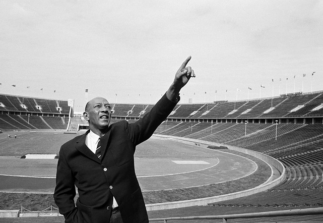 Owens makes a nostalgic visit to the scene of his great Olympic triumph, on June 9, 1964.