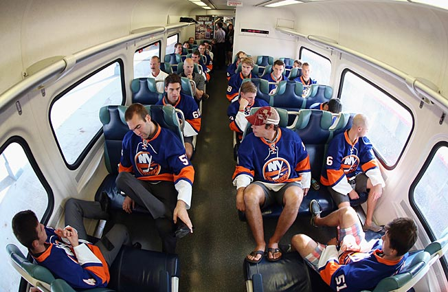 The Isles on their way to work like so many weary commuters.