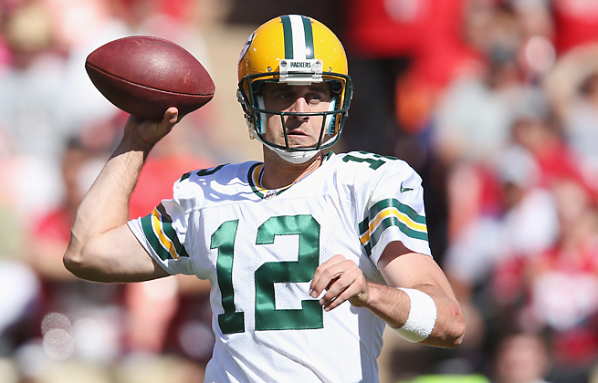 Aaron Rodgers had the error-prone Packers within range of the Niners in a season-opening road loss.