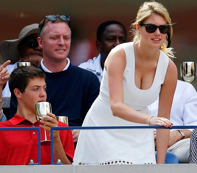 Not surprisingly, the beloved supermodel's seat at the U.S. Open was the center of attention.