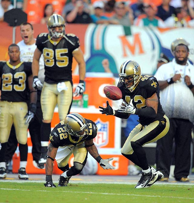 The Saints won this season's Super Bowl behind its high-powered offense, but its defense helped key its come-from-behind win. After Miami built a 24-3 lead, Darren Sharper and Tracy Porter each returned interceptions for touchdowns in a 46-34 win. The Saints had also overcome 21-point deficits in 1987 and 1969.