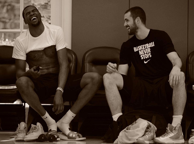 Some of the biggest names in the NBA descend upon a Los Angeles gym to work with Rob McClanaghan, a 34-year-old former Syracuse walk-on and now one of the hottest names in basketball training circles. His client list includes Kevin Durant, Derrick Rose, Kevin Love and John Wall and has continued to grow in recent years with his growing success. A Rhode Island native, McClanaghan puts his players through intense, efficient workouts tailor-made to each of their games. Several stars -- including Rose in this piece by Lee Jenkins in 2011 -- credit McClanaghan for dramatically improving their games, leading to a word-of-mouth effect that has elevated the basketball trainer's Q rating to new heights. On a steamy August afternoon, McClanaghan invited Sports Illustrated for a behind-the-scenes look at one of his offseason workouts.