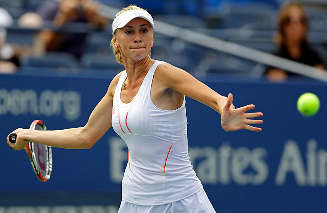 Unseeded Olga Govortsova topped Mandy Minella in straight sets to earn a spot in the final.