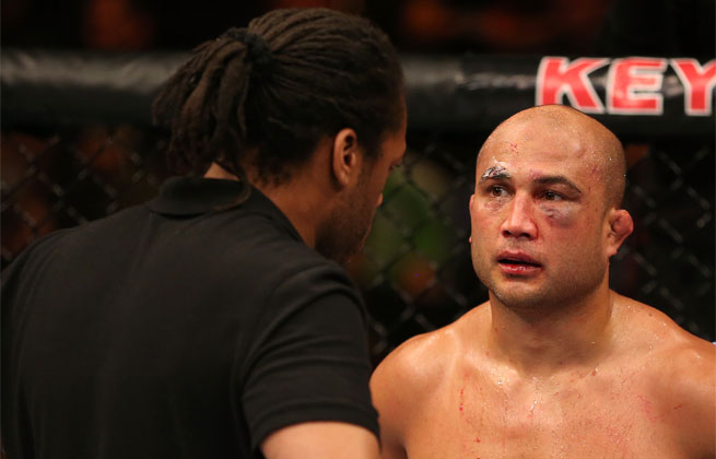 B.J. Penn (right) will be one of the coaches on the next season of <em>The Ultimate Fighter</em>.
