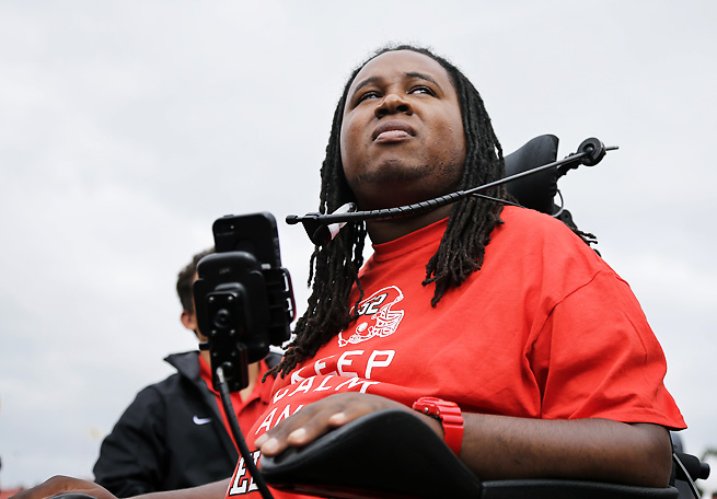 Eric LeGrand saw his number retired three years after suffering a life-altering spinal cord injury.