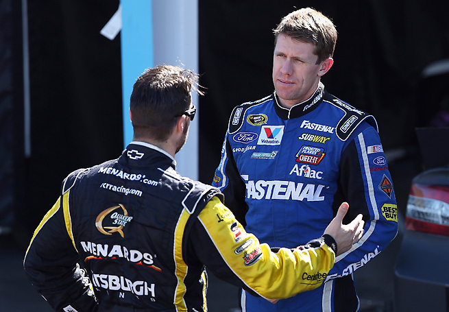 A disputed start between Paul Menard and Carl Edwards was behind the recent rule change.