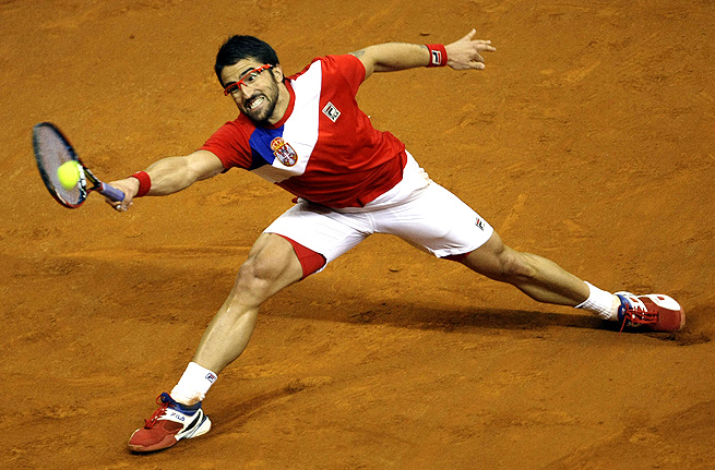 Janko Tipsarevic's victory over Vasek Pospisil clinched Serbia's spot in the Davis Cup final.