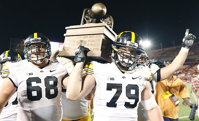 Iowa claimed the Cy-Hawk Trophy with its 27-21 win over rival Iowa State on Saturday.