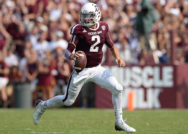 Texas A&M quarterback Johnny Manziel accounted for 562 yards of total offense in a loss to Alabama.