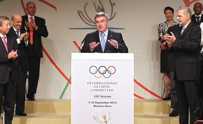 The IOC elected Thomas Bach to succeed Jacques Rogge as president last week.