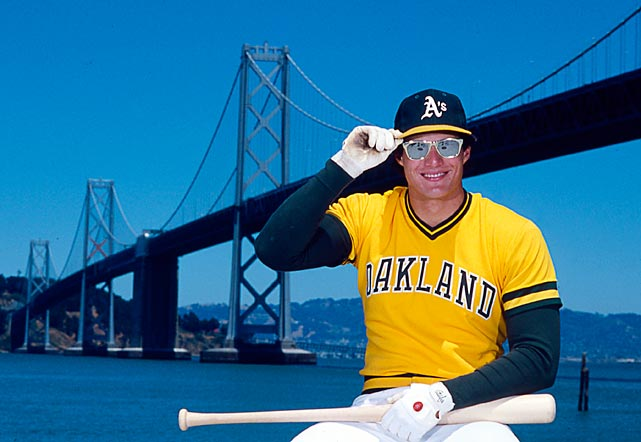 Before becoming baseball's leading ambassador for steroids and lunacy, Jose Canseco was one of MLB's brightest talents -- bright enough to warrant these wayfarer shades.