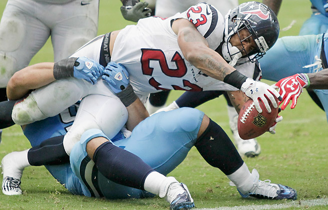 Arian Foster has seen his workload decrease but appears to still be the Texans' top goal-line threat.
