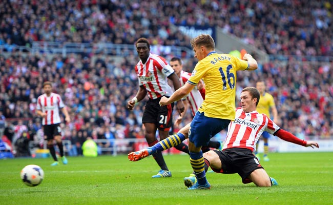 Aaron Ramsey scored two goals against Sunderland on September 14.