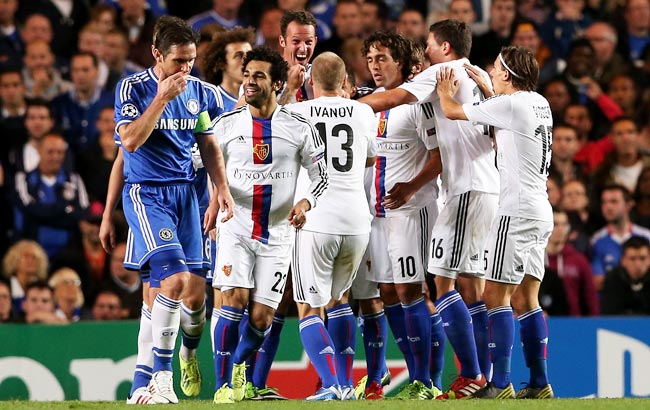 Basel came back from being 1-0 down to defeat Chelsea in the Champions League on Tuesday.
