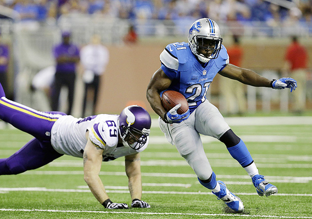 In his first season with the Lions, Bush has rushed for 115 yards on 30 carries, but is out for Week 3.