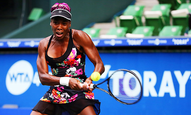 Venus Williams needed just over an hour to defeat Mona Barthel in Tokyo.