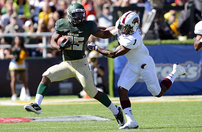 Tailback Lache Seastrunk (25) and Baylor have outscored their first three opponents a combined 209-23.