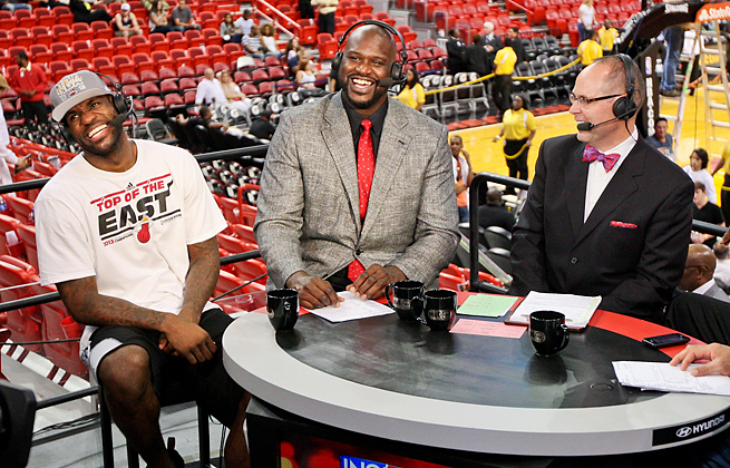 Shaquille O'Neal will begin his third year with TNT's Inside the when the 2013-14 season begins.