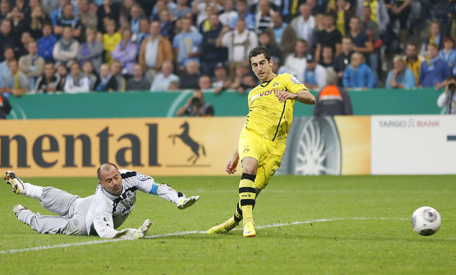 Henrikh Mkhitaryan sealed the deal for Dortmund's victory over 1860 Munich in the German Cup.