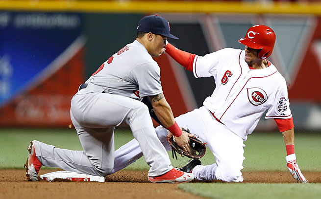 Billy Hamilton has already stolen 13 bases without being caught in just 11 games since being called up.