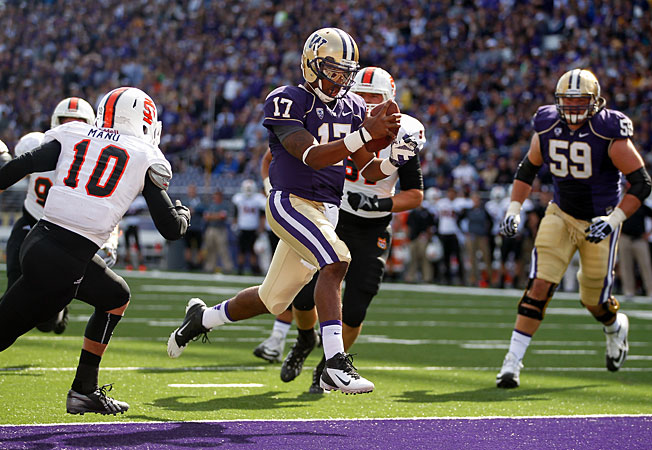 After converting to a more up-tempo offense, Washington is averaging more than 42 points per game.
