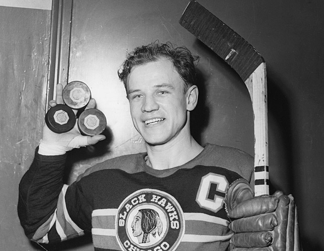 The fastest stick in the West belonged to Chicago's Bill Mosienko. On March 23, 1952, the Blackhawks winger found the back of the net three times in a blinding 21 seconds against the Rangers. The spree came in the third period of Chicago's 7-6 win, and all the goals were scored at even strength.