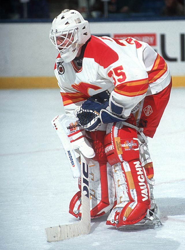 "Goalies rarely rack up points, so it's all the more fun when they do. Philadelphia's Ron Hextall was the first to actually shoot and score a goal, and he finished his career with two, but Calgary's Jeff Reese set the NHL standard for single-game scoring by a netminder while picking up three points, all assists, in the Flames' 13-1 romp over the Sharks on February 10th, 1993. ""Nobody really knew it was a record until the next day,"" Reese later told <italics>The Hockey News</italics>. ""I figured that maybe Grant Fuhr or Ron Hextall or Billy Smith had done it, but they hadn't. It's a nice record, but I think somebody will tie it some day."" (Tom Barasso holds the mark for most career points by a netminder with 48.)"