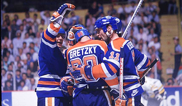 The NHL of the 1980s was a much more wide-open, offensively-minded league than it is today, but even so the 1983-84 Oilers were a special bunch. Powered by Wayne Gretzky (205 points), Paul Coffey (126), Jari Kurri (113) and Mark Messier (101), the eventual Stanley Cup winners (the dynasty's first) finished with a record haul of 446 goals in 80 games, an average of 5.58 per game. As the league tries to boost scoring by shrinking goalie equipment and altering nets, here's a look at some of the most awesome offensive performances in NHL history.
