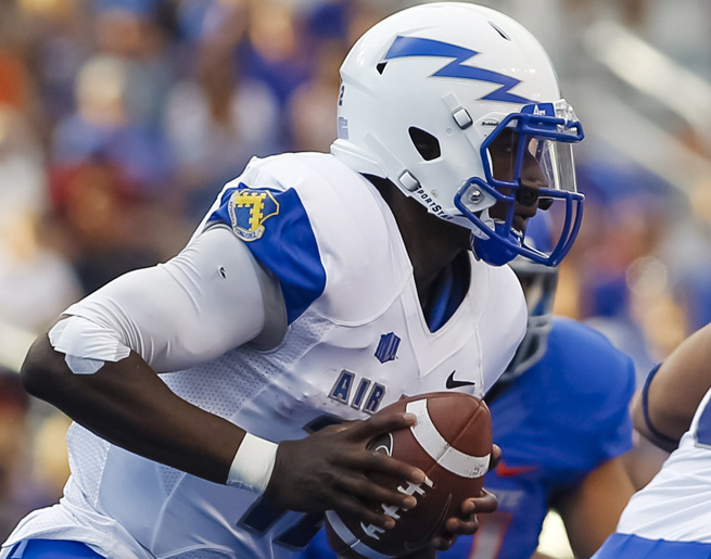 Jaleel Awini has thrown for 275 yards and an interception in three starts for Air Force.