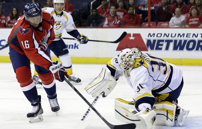 Eric Fehr scored twice as the Capitals improved to 3-0-3 after beating Nashville on Wednesday.